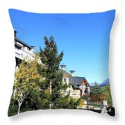 Whistler Village Throw Pillow