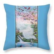 Whistling Angel-break Of Dawn   Throw Pillow