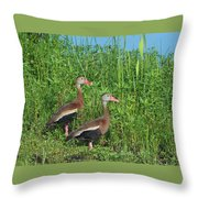 Whistling Ducks Throw Pillow