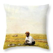Whistling For Plover 1874 Throw Pillow
