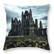 Whitby Abbey, England Throw Pillow
