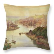 Whitby From Larpool Throw Pillow