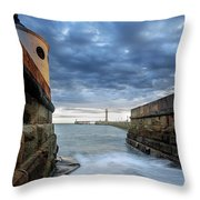 Whitby Morning Tide 2 Throw Pillow