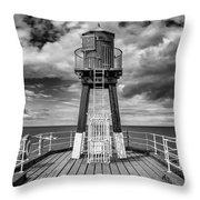 Whitby Pier Throw Pillow