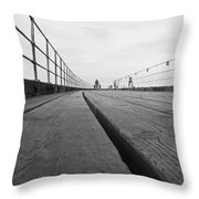 Whitby Pier Throw Pillow