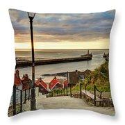 Whitby Sun Set Throw Pillow