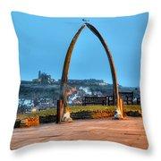 Whitby Whalebone Blue Hour Throw Pillow