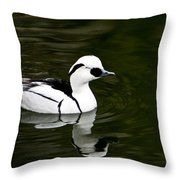 White And Black Duck Throw Pillow