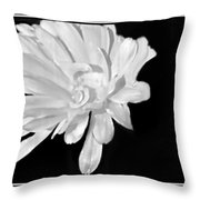 White And Black Flower Painting Throw Pillow