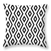 White And Black Pattern Throw Pillow by Christina Rollo