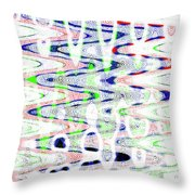 White And Blue Abstract Throw Pillow