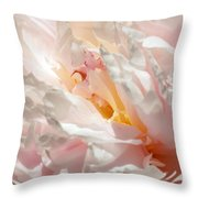White And Pink Peony 3 Throw Pillow