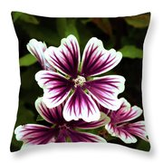 White And Purple Throw Pillow