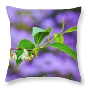 White And Purple Spring 2 Throw Pillow