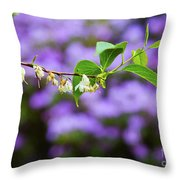 White And Purple Spring Throw Pillow