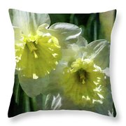 White And Yellow Daffodil 8887 Idp_2 Throw Pillow