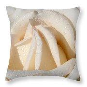 White Angel Rose Throw Pillow