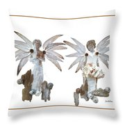 White Angels Throw Pillow