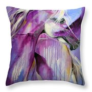 White Arabian Nights Throw Pillow by Laurie Pace