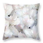 White Azaleas 1 Throw Pillow