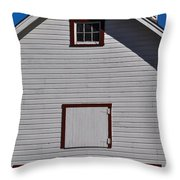 White Barn Throw Pillow