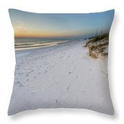 White Beaches Of Cape San Blas Throw Pillow