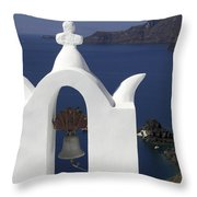 White Bell Tower Throw Pillow
