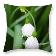 White Bells Perspective Throw Pillow