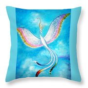 White Bird From Kingdom Of Immortals Throw Pillow