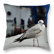 White Bird Port Burgas Throw Pillow