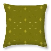 White Birds Chartreuse Sky Throw Pillow