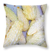 White Bitter Melon Throw Pillow