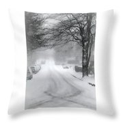 White Blanket Throw Pillow