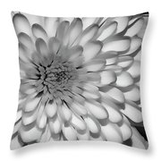 White Bloom Throw Pillow