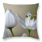 White Blossom 1 Throw Pillow