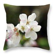 White Blossom  Throw Pillow