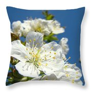 White Blossoms Art Prints Spring Tree Blossoms Canvas Baslee Troutman Throw Pillow