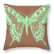 White Butterfly Swallow Tail Le Papillon Machaon Throw Pillow