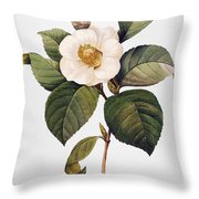White Camellia Throw Pillow by Granger