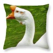 White Chinese Goose Throw Pillow
