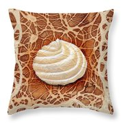 White Chocolate Swirl Throw Pillow