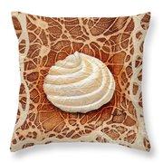 White Chocolate Swirl Throw Pillow