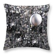White Christmas Bauble  Throw Pillow