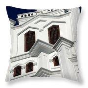 White Church Throw Pillow