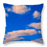White Clouds In Blue Sky Throw Pillow