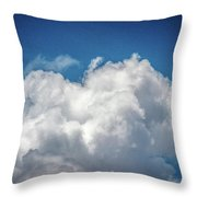 White Clouds In The Sky Throw Pillow