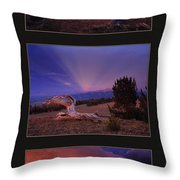 White Clouds Triptych Throw Pillow