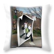White Coats Throw Pillow