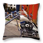 White Cobra Throw Pillow by Charles Dobbs