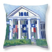 White Columns Throw Pillow